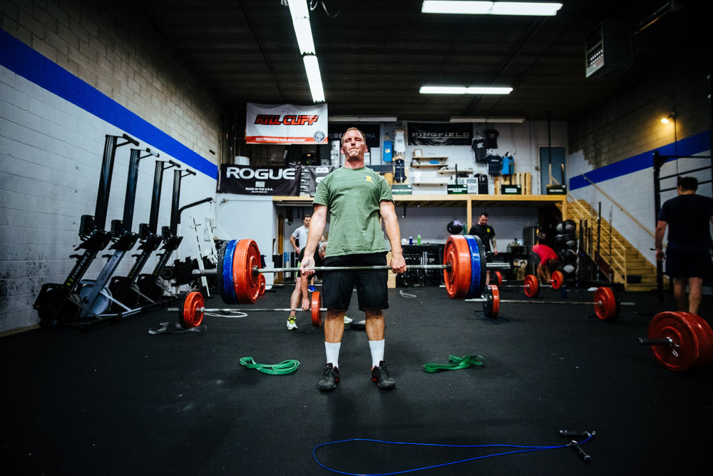 Chris looking strong on the deadlifts