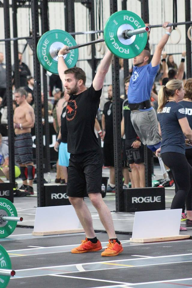 Jeremy showing off  a little Kingfield strength at Granite Games 2015.