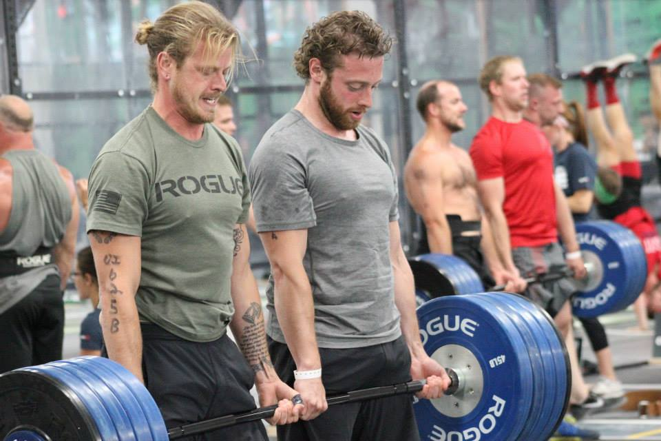 Speaking of deadlifts....Alex T. and Robert K. partner deadlifting last Granite Games.