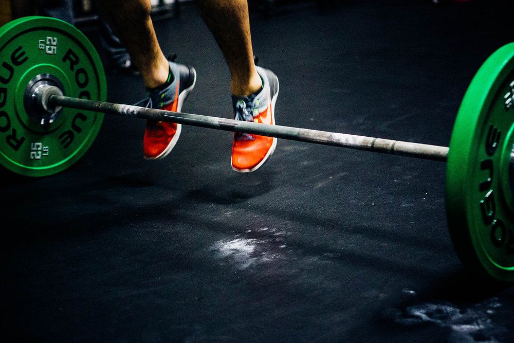 The burpee over the bar:Two-footed take off, two-footed landing.