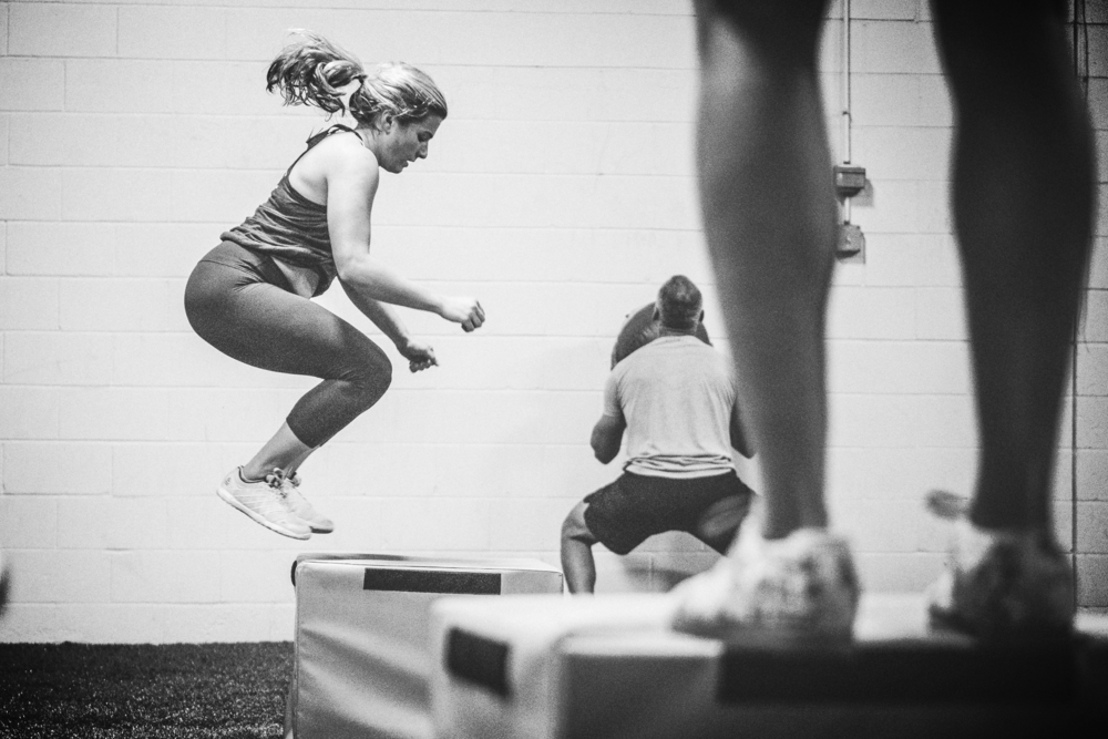 Clare D. catching air on a box jump this time last year...our Regionals friends from the No Bull Project join her in the foreground and background.