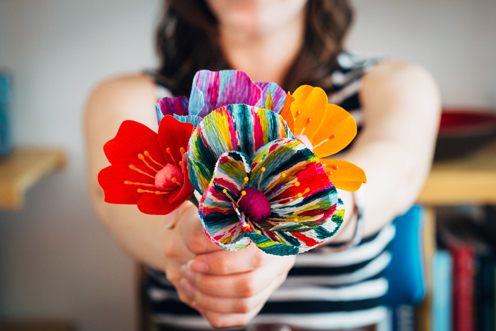 A small bouquet of her gorgeous paper flowers.