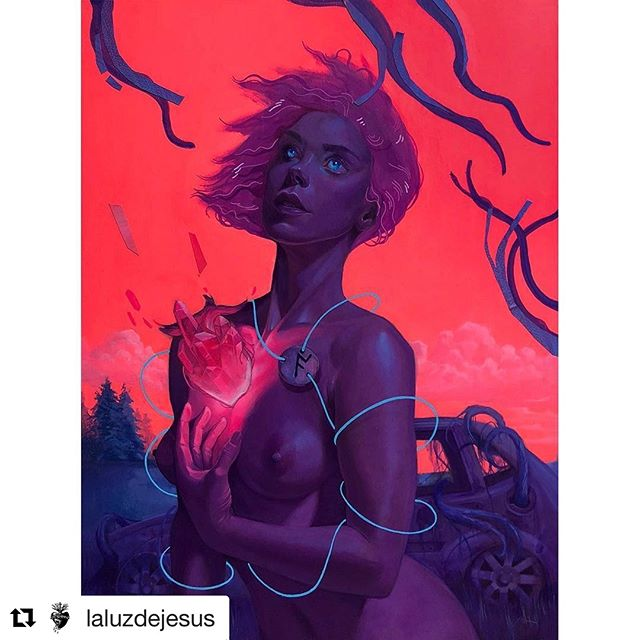 Been sitting on this news but just in time for my birthday! 3.1: La Luz de Jesus in LA!  #Repost @laluzdejesus ・・・ LALUZAPALOOZA PREVIEW IS NOW LIVE!⠀ ⠀ Laluzapalooza 2019⠀ March 1-31st   2019⠀ Opening Reception March 1st 8pm-11pm⠀ Works can be viewed (linkinbio)⠀ ⠀ Works in the carousel.⠀ 1. @mcamarra -CRYSTAL RHYTHM, 2018⠀ 2. @dahnniii -Passport 1, 2018⠀ 3. @chad_knapik -The Cascade, 2018⠀ 4. @gabrieldedwards-Halloween 2007, 2018⠀ 5. @lenarushing -Gelada, 2018⠀ 6. @mayapeterpaul -Aken, 2018⠀ 7. @andreashearart-Moths, 2018⠀ 8. @sabinaespinet-St. Siouxsie- Patron Saint of Darkness, 2018⠀ 9. @andrewkcurrey-Lunatic(far), 2018⠀ 10. @annatrobot-Ill Humored Ice Cream, 2018⠀ ⠀ #laluzapalooza2019 #laluzdejesus #laluzdejesusgallery
