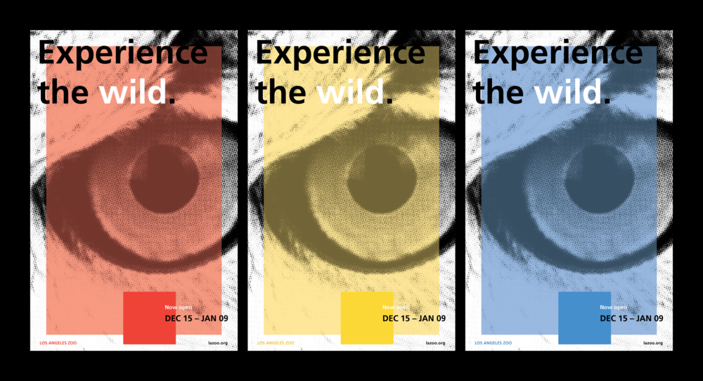 POSTER CONCEPT FOR LOS ANGELES ZOO REBRAND