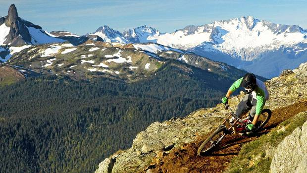 Alpine downhill track on Whistler Mountain. Photo Sterling Lorence