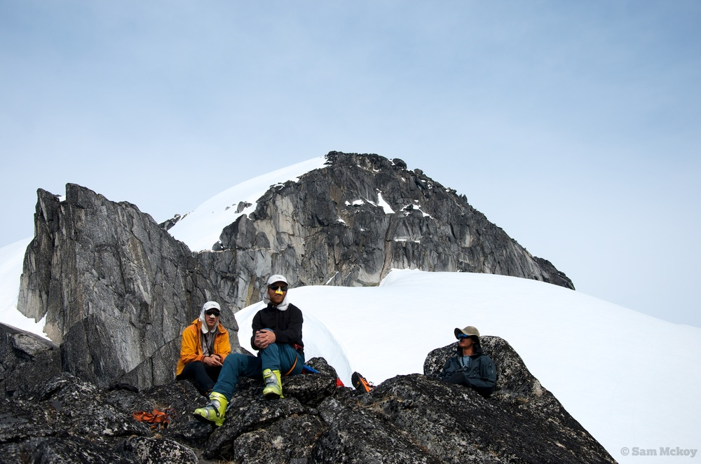 Tim, Gobin and Artem looking out upon the Satsalla Valley.