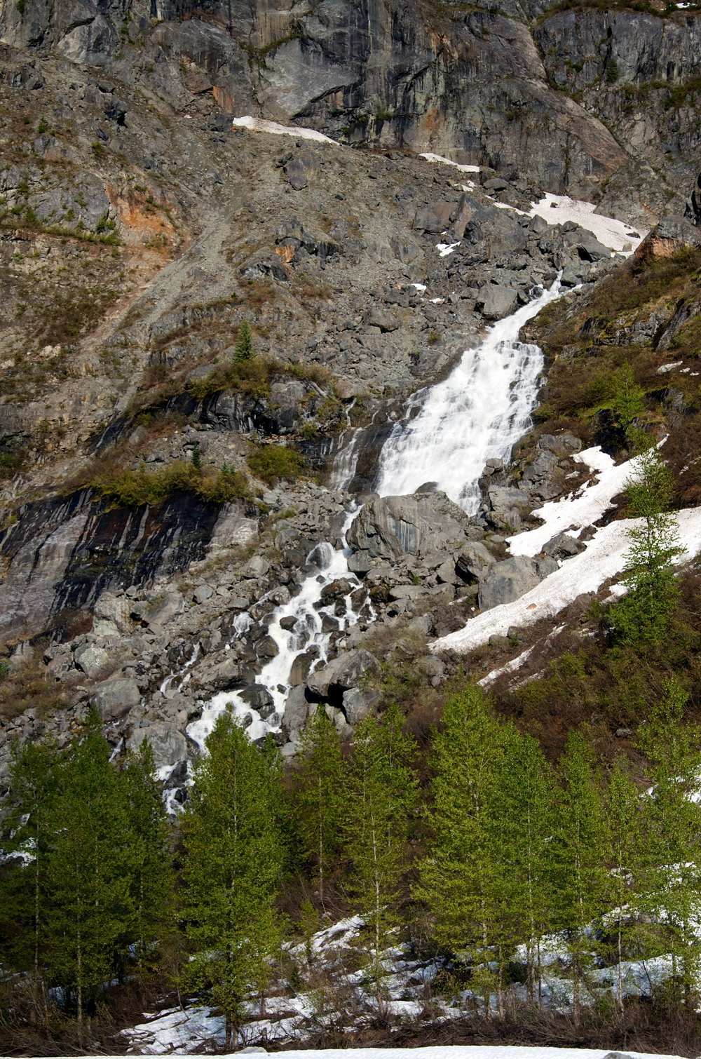 Some of the beautiful waterfalls cascading into the Tumult Valley.