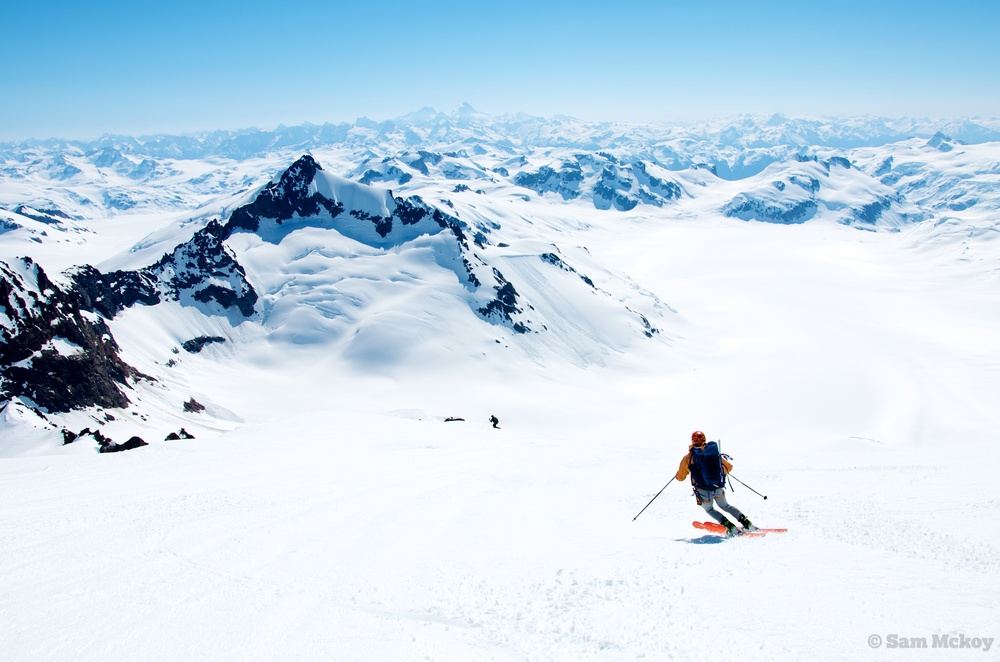 Skiing Down Silverthrone Sam Mckoy