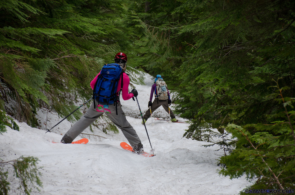 In the beginning there was snow. Earlier on in the traverse, we often found ourselves travelling through valleys on skis. So what happened? Well, a lot can change over the course of 5 weeks. With a healthy winter snowpack for the 2015-16 season, spring in BC involved record breaking warm temperatures, lots of sun and very little snow.