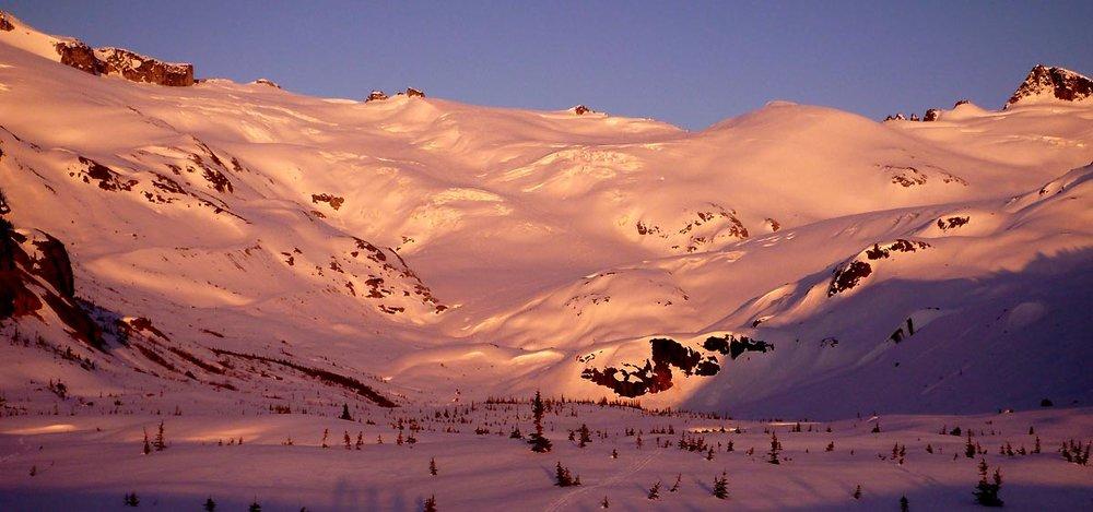 Skiing East of the Hut. Photo Lee Lau