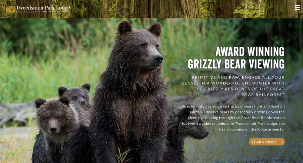 Tweedsmuir Lodge in the Bella Coola valley still has grizzly hunting in nearby areas.