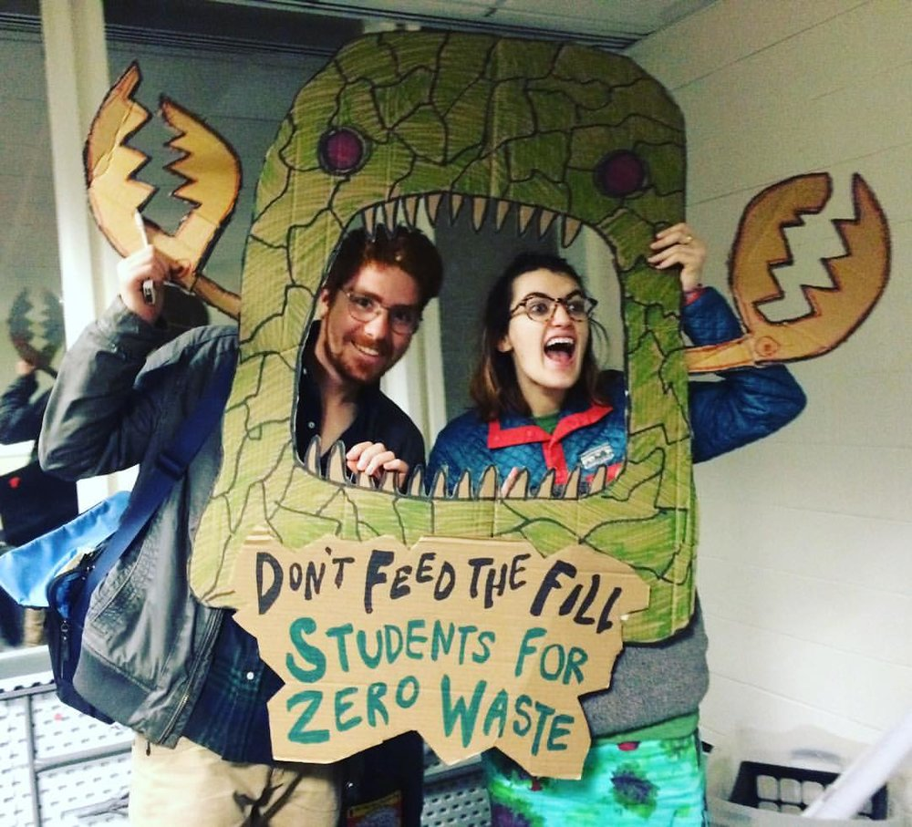 Aryn Aiken and Davis Saltonstall at PLAN's Students For Zero Waste Conference #Don'tFeedthefill #sZW2016