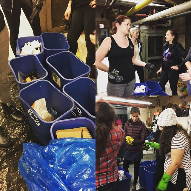 Many thanks to Louise's #FoodWaste class for following us into the depths of the basement to dig through #trash! We always love meeting new #garbagegeeks and learning more about waste. #wasteaudit #zerowaste #organics