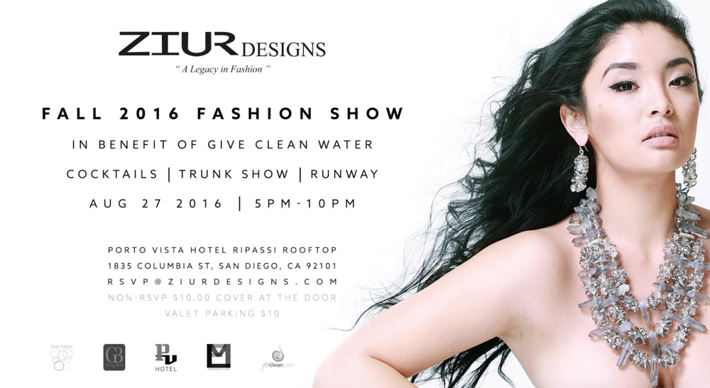 Style Sorbet has partnered with Ziur Designs for an exciting event! Join us at the rooftop of the Porto Vista Hotel for the debut of Zuir Designs Fall 2016 collection! Learn about how this brand supports socially responsible initiatives with, Give Clean Water, a non-profit that helps to create clean drinking water solutions in Fiji.   Email: RSVP@ziurdesigns.com to get on the guest list!  Media inquiries: leilani@stylesorbet.com