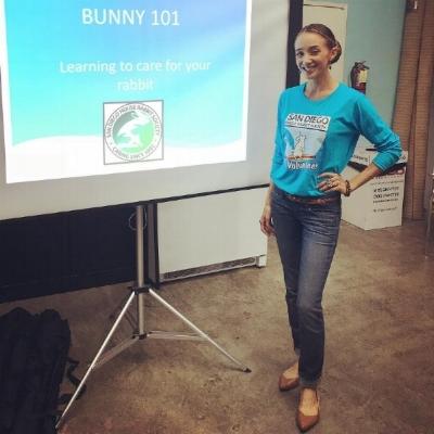 Teaching Bunny 101 at the  SD House Rabbit Society