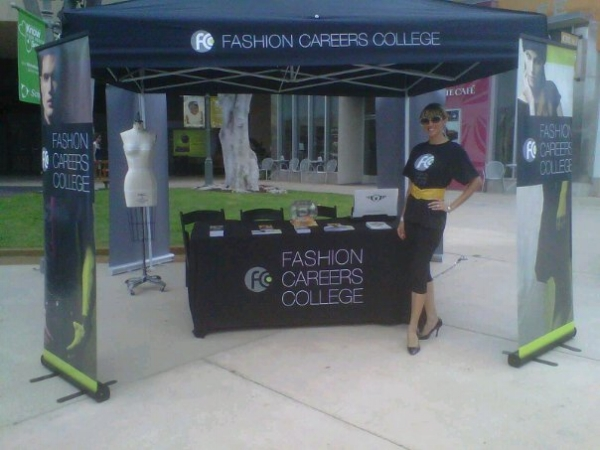 Promoting higher learning at a community outreach event for FCC College