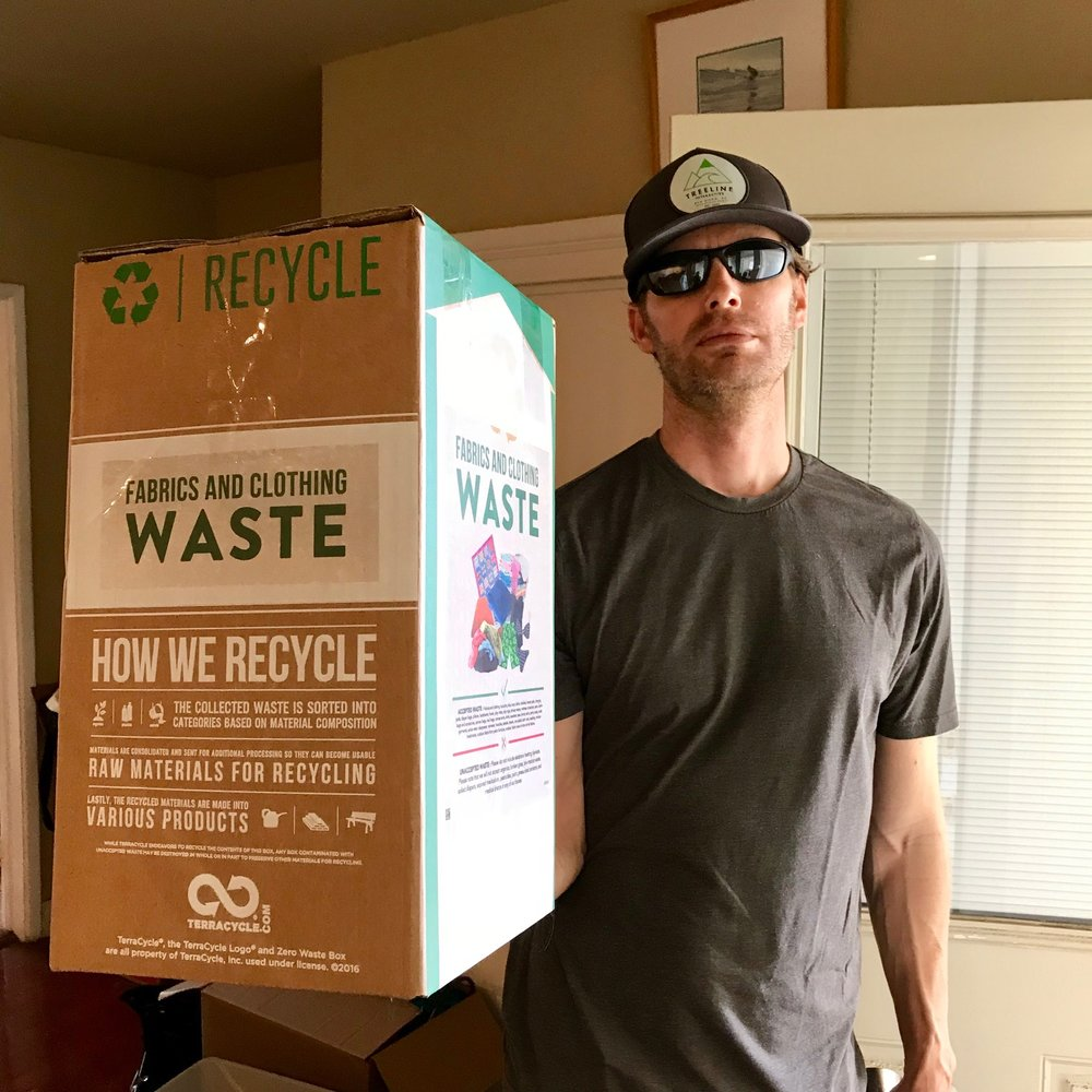 Don't let this poo poo face fool you…he is very excited about this TerraCycle Zero Waste Box!