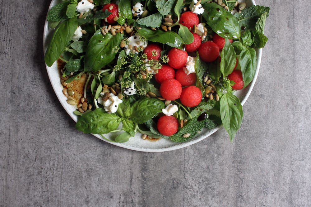 Watermelon & Goat's Cheese Salad⎜The Botanical Kitchen