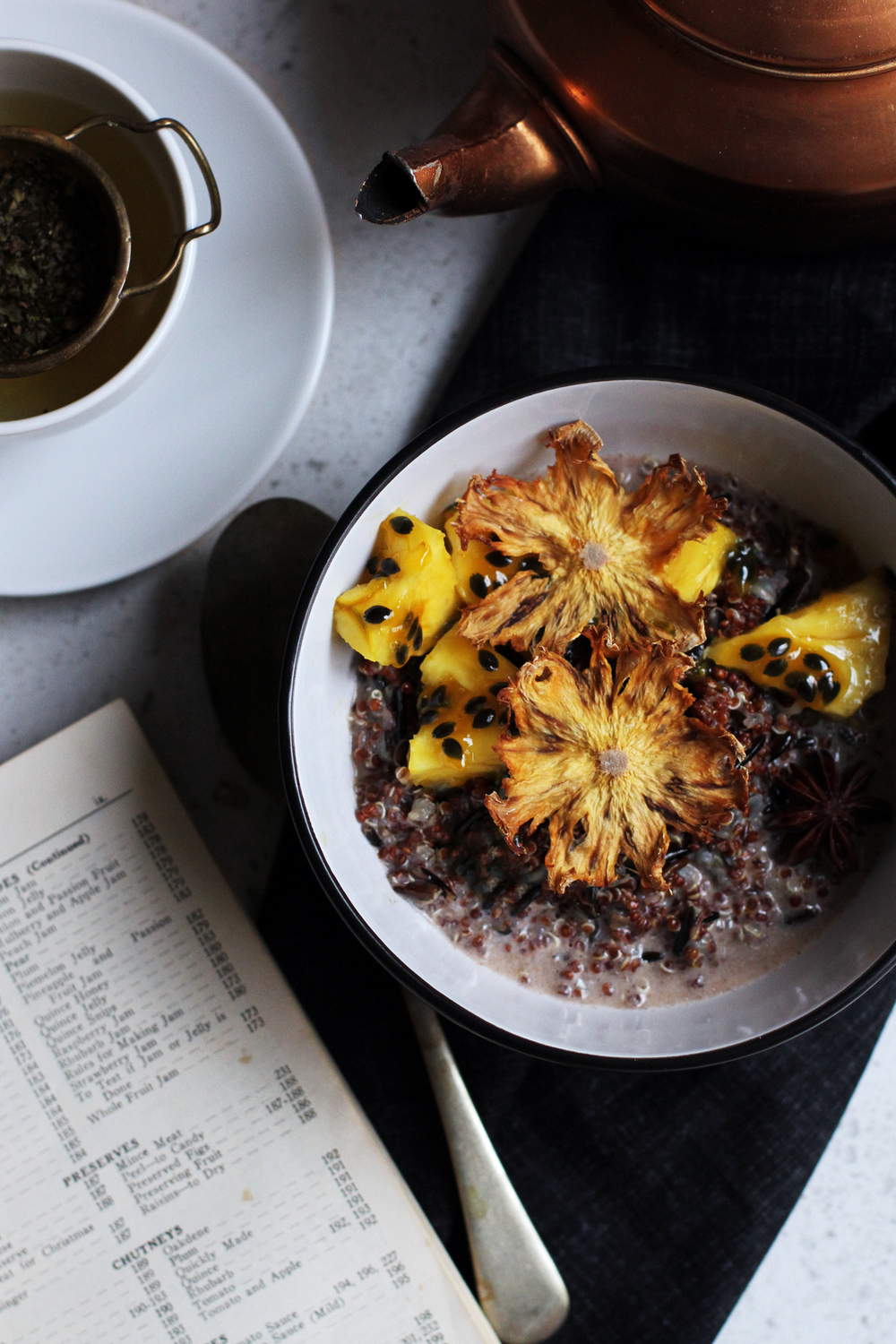 Wild Rice & Quinoa Porridge with Tropical Syrup⎜The Botanical Kitchen