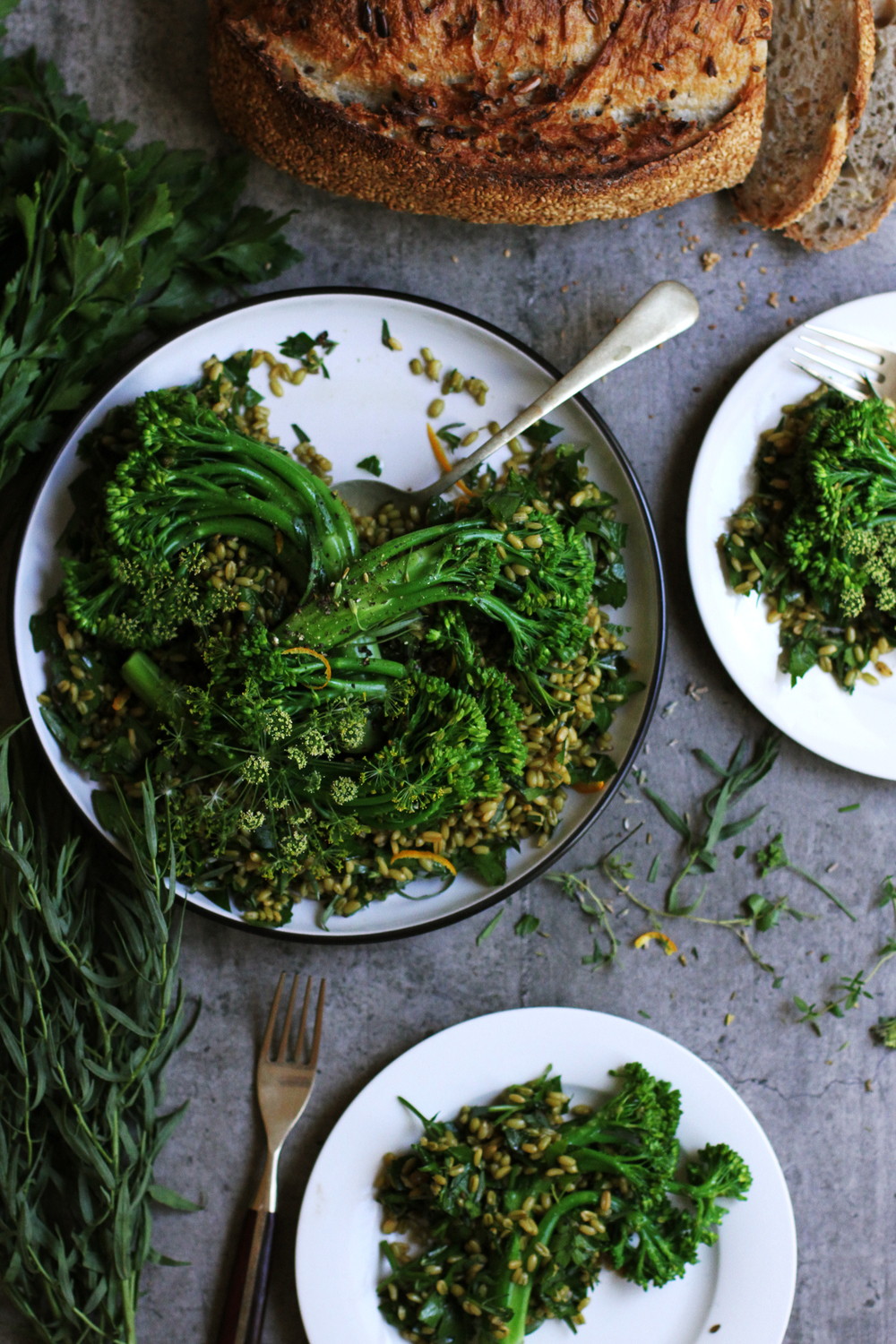 Broccolini with Lavender, Tarragon & Parsley⎜The Botanical Kitchen