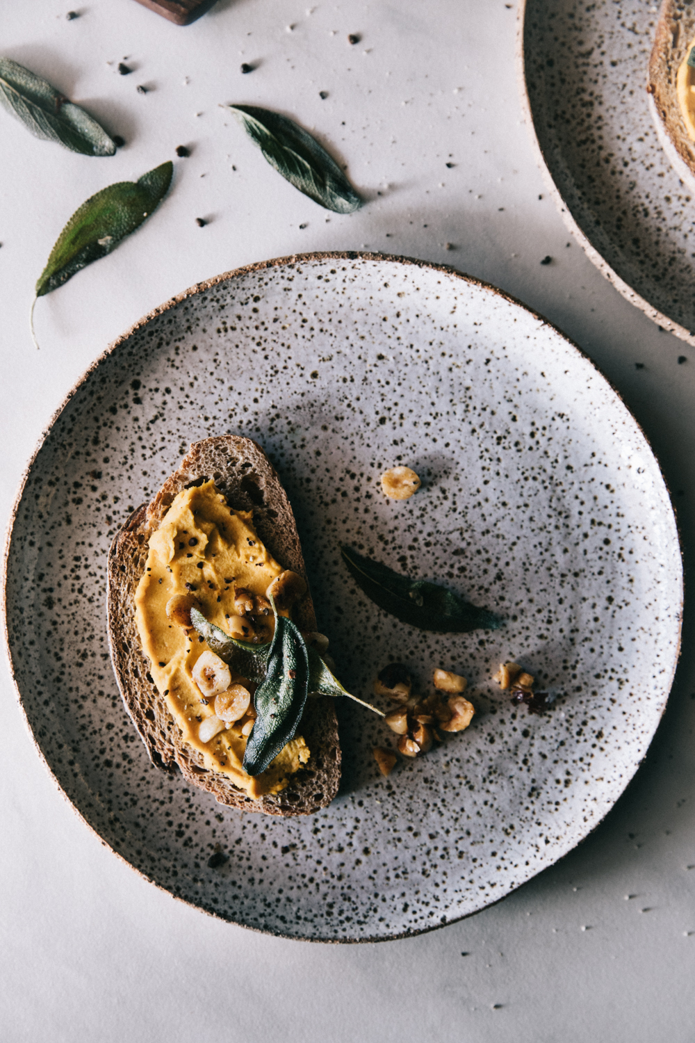 Carrot Hummus with Crispy Sage & Hazelnuts⎜The Botanical Kitchen