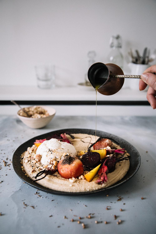 Silken White Beans w. Roast Beets & Burrata⎜The Botanical Kitchen