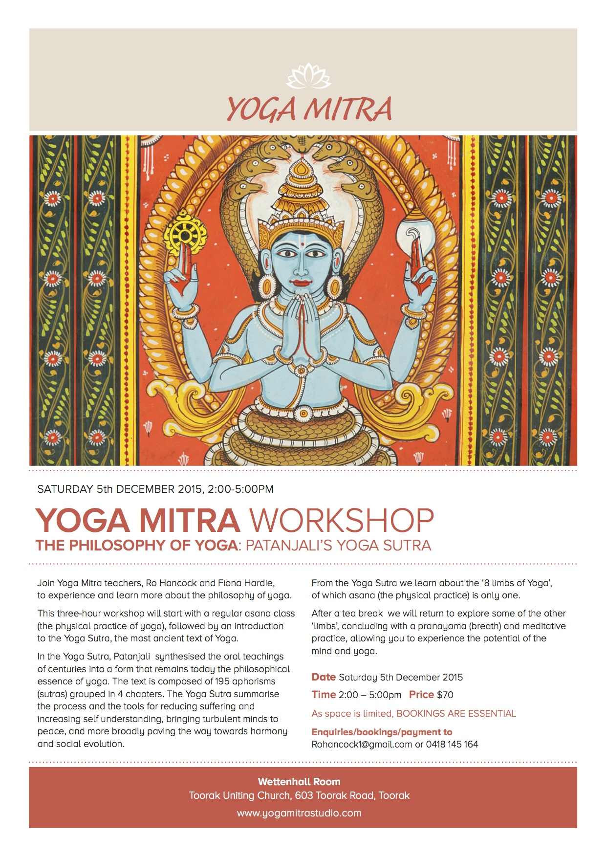 Workshop The Philosophy Of Yoga Patanjalis Sutra