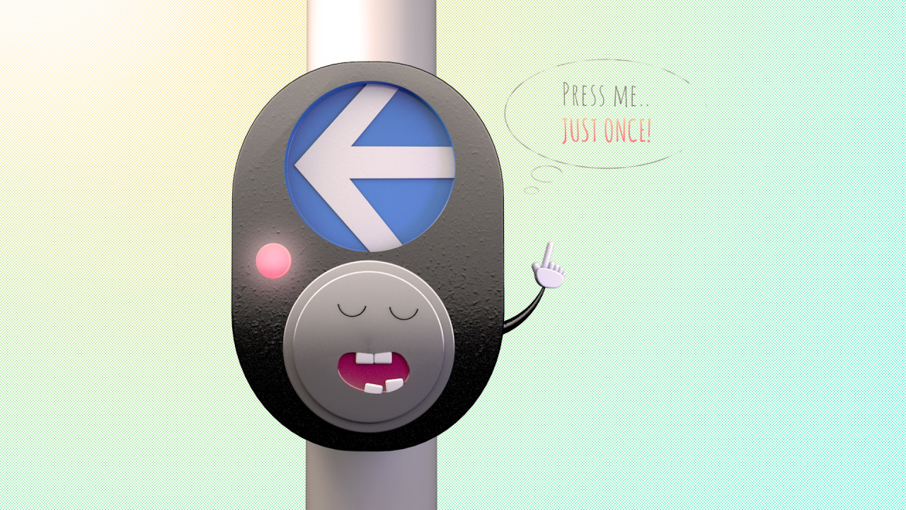 … said Pooty, the traffic light button