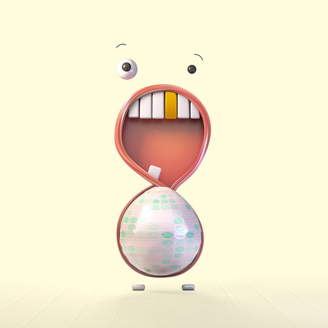 8: an introvert with a belly made of Easter egg.   36days_8 #36daysoftype #8 #typeeveryday #typeeverything #typeexperimental #visualdiary #graphicdesign #design #digitalart #thedesigntip #letter #lettering #children #digitalart #cartoon #doodle #cartooningletter #c4d #3d #3dtype #onehourgallery #characterwithtype #character