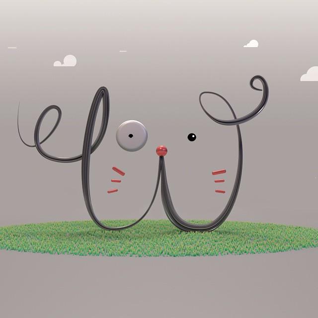 Woofy: a red nose catdog #36days_W #36daysoftype #W #c4d #visualdiary #illustration #alphabet #graphicdesign #illustration #kids #children #type #typestory #typedesign #typeeveryday #typeeverything #typeexperimental #thedesigntip #onehourgallery #design #digitalart #dog #cat #cartoon #doodle