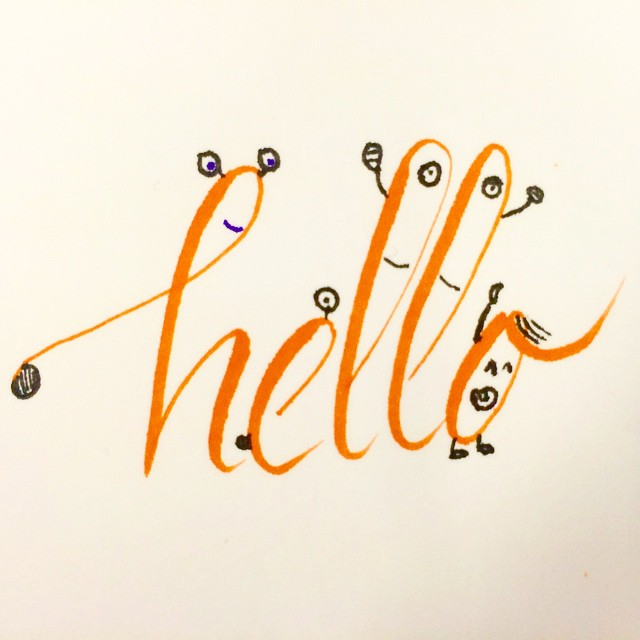 Random doodle in between projects  #visualdiary #doodle #drawing #lettering #typedesign #hello #characterwithtype #children #cartoon #cartooningletter