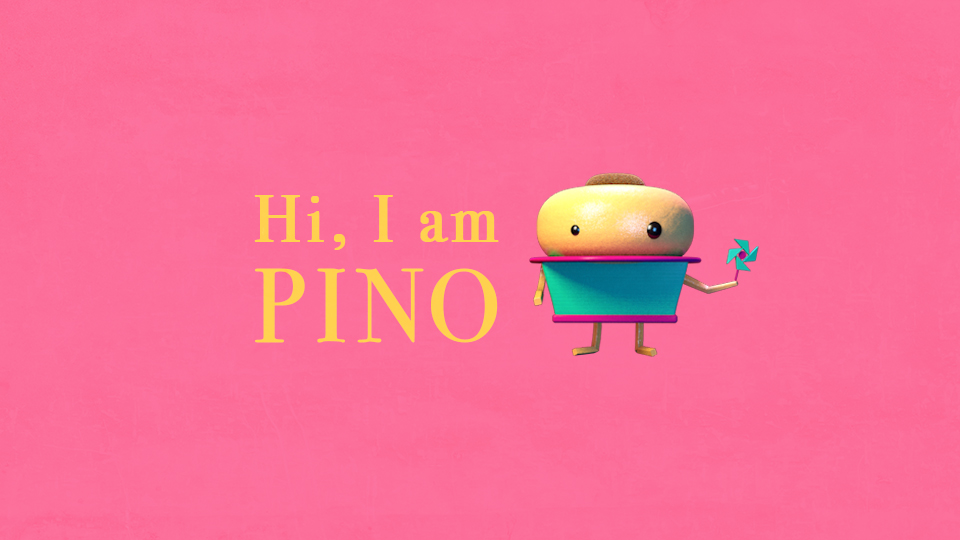21 March 2015 - PINO   Pino, a character who is always bullied by his friends. His head is made of orange skin.