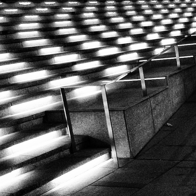 Taking a time off from computer to go out and play  #visualdiary #perspective #lights #lines #nightlights #stairs #pattern