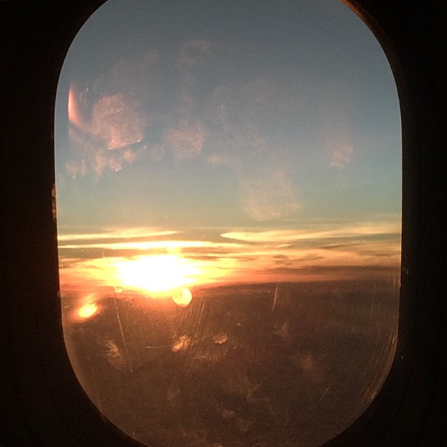 Beautiful sunrise during flight   #sunrise #flight #morning #morningflight #visualdiary