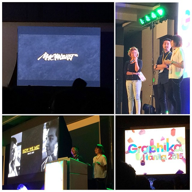 Great talk by good friends n mentors @machineast at #graphika 2015! Day 1; so far so great! 😄 #graphikamanila2015