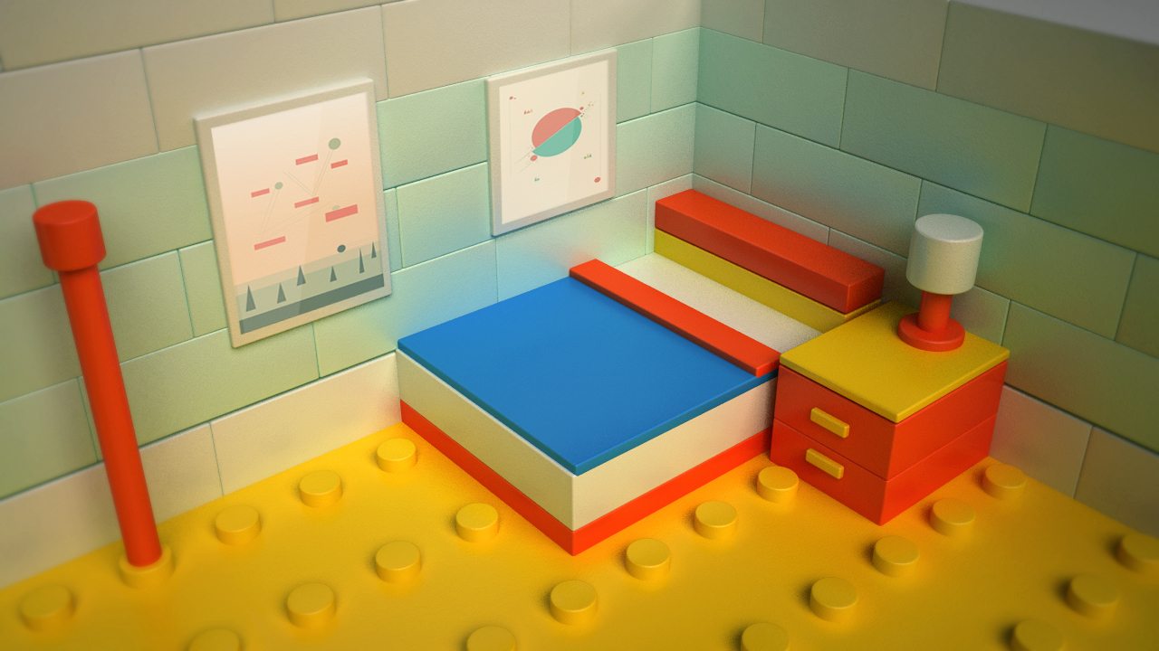 "23 February 2014 - My Lego Room    Inspired by Lego Movie. ""Everything is Awesome!"". Made with C4d and Vray."