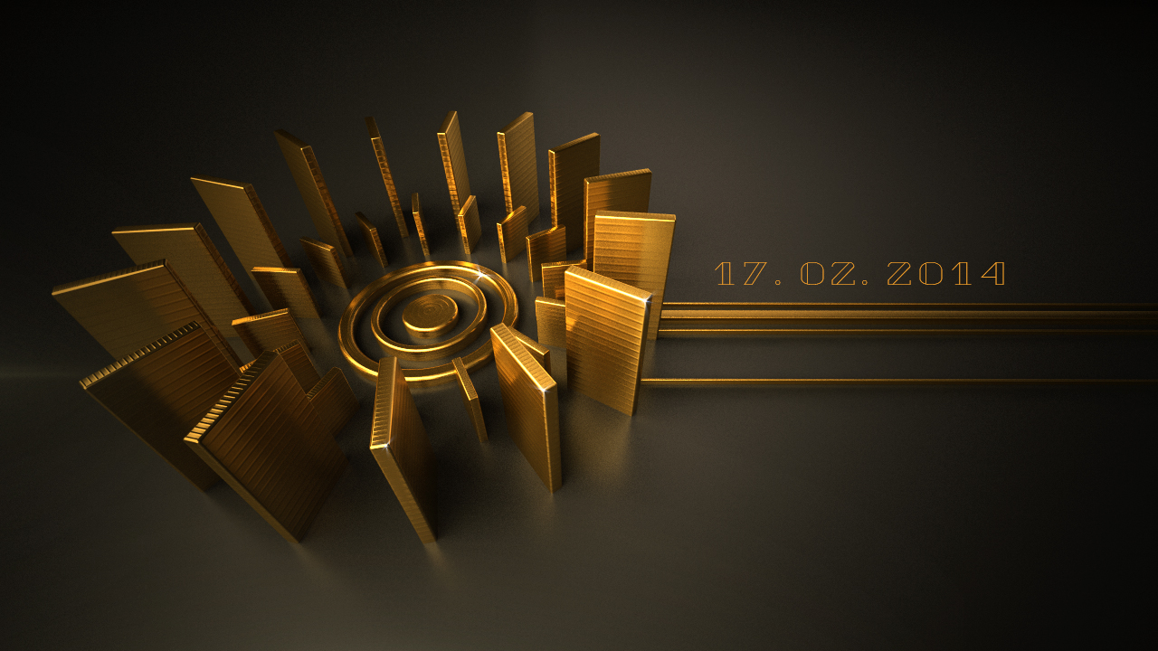 17 February 2014 - Gold Diary Had a little fun with Vray and C4d.
