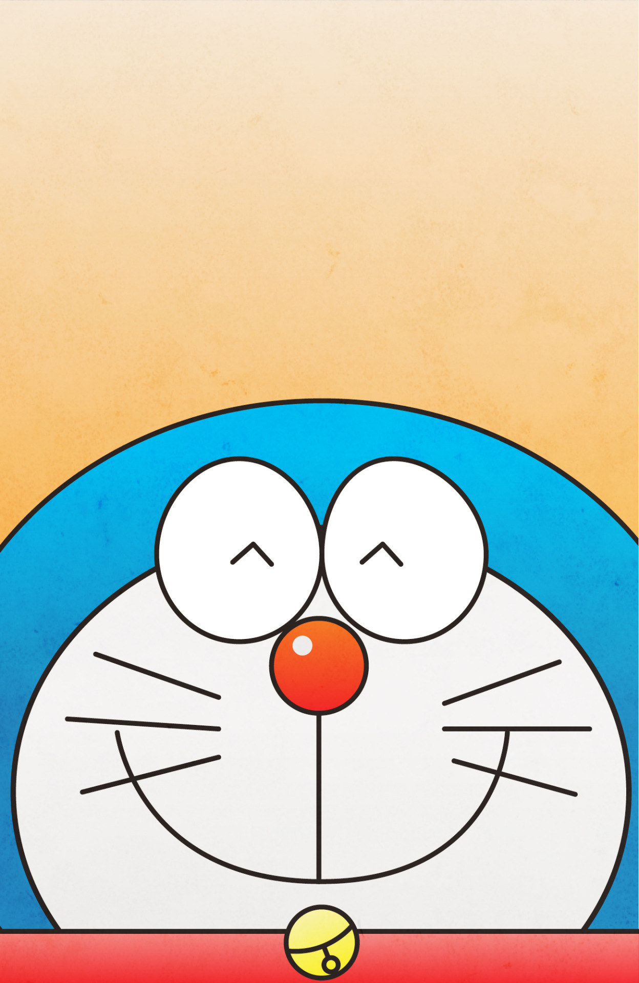 4 February 2014 - Doraemon Face    A tribute to my favourite comic character! :)