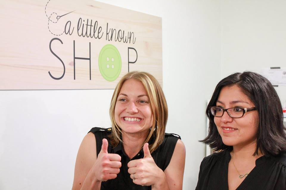 Eva (left) and Danielle (right) during the grand opening of their first shop!