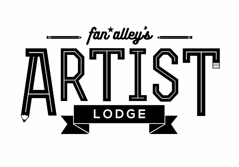 Artist Lodge Logo by Oscar Rosales of @bleenkies1