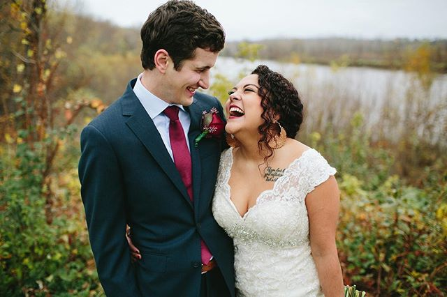 Lance and Madian embraced their rainy wedding day.