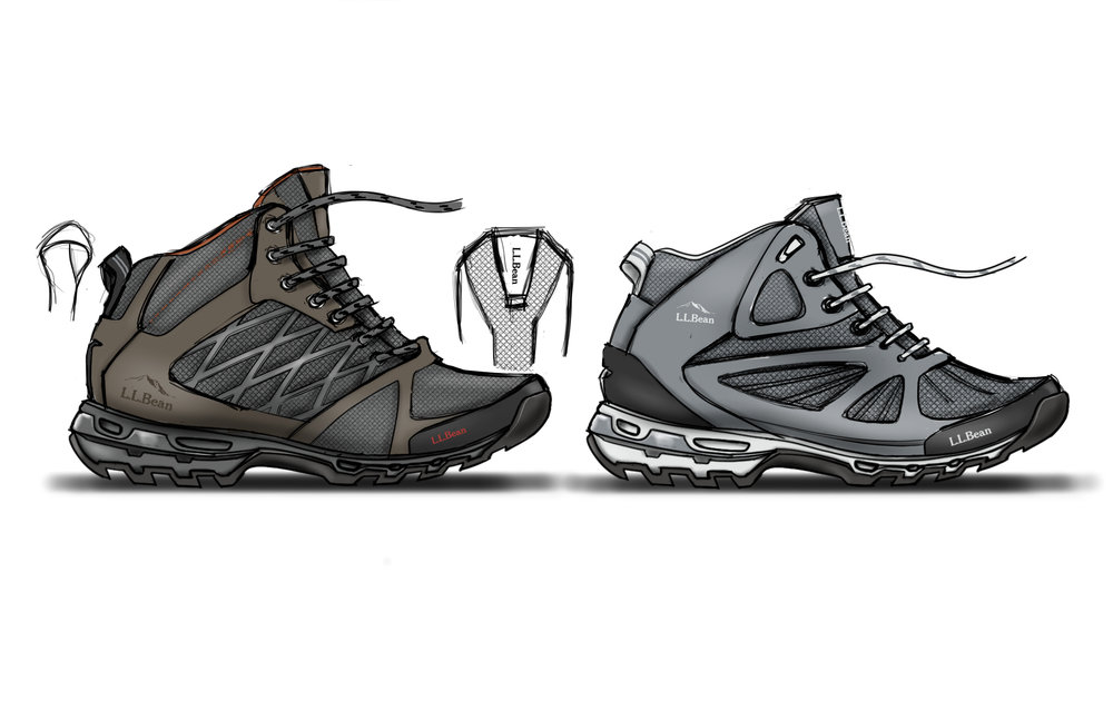 Men's & Women's Ascender Hiker 3.0 Concept Renderings