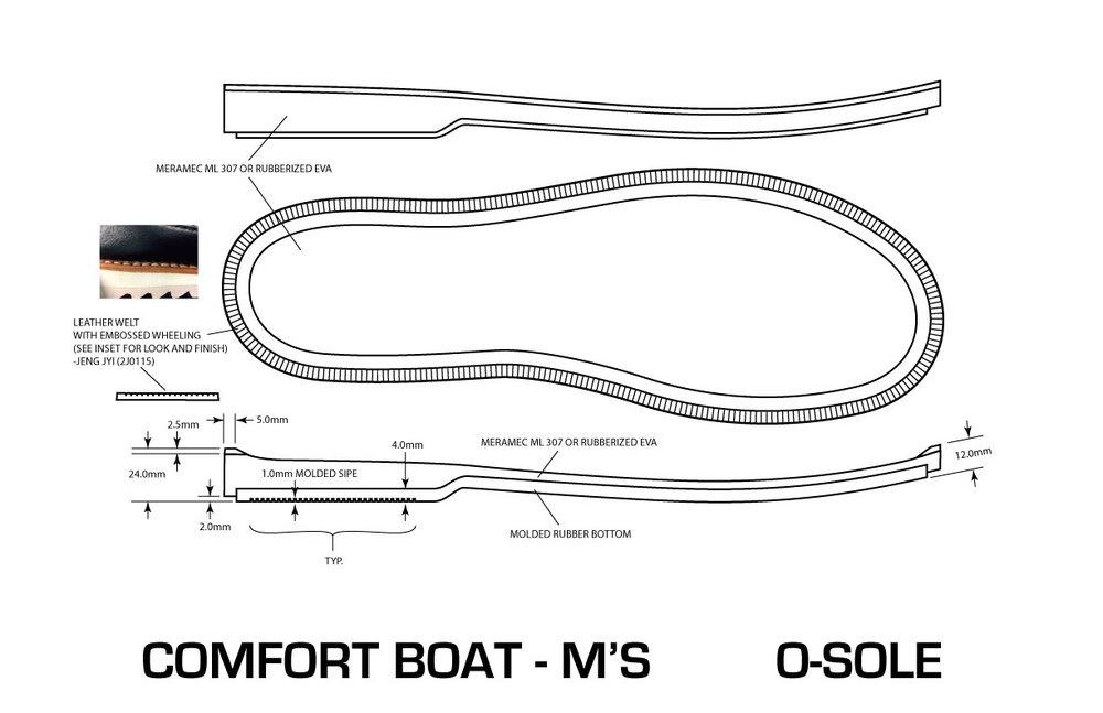 Comfort Boat Moc Midsole