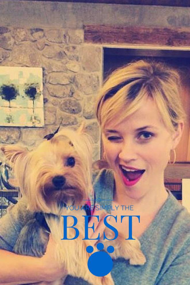 Reese Witherspoon. Oscar 2015 nominee and dog lover.