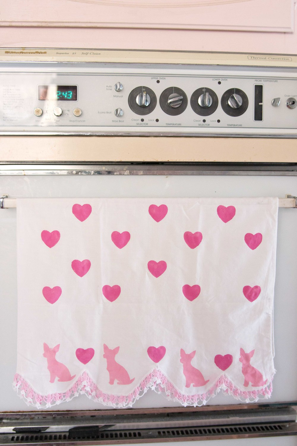 DIY Dog Breed Valentine's day Tea Towel