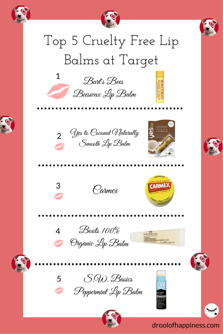 Top 5 Cruelty Free Lip Balm Roundup from Target by Drool of Happiness