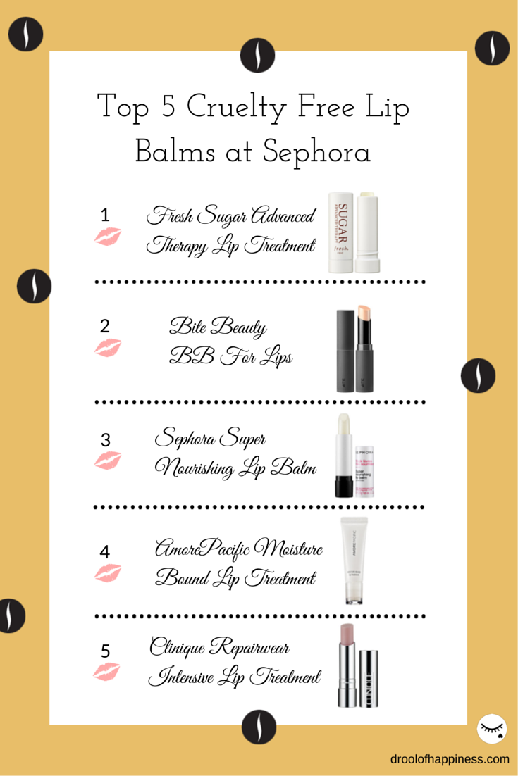 Top 5 Cruelty Free Lip Balms you can buy at Sephora