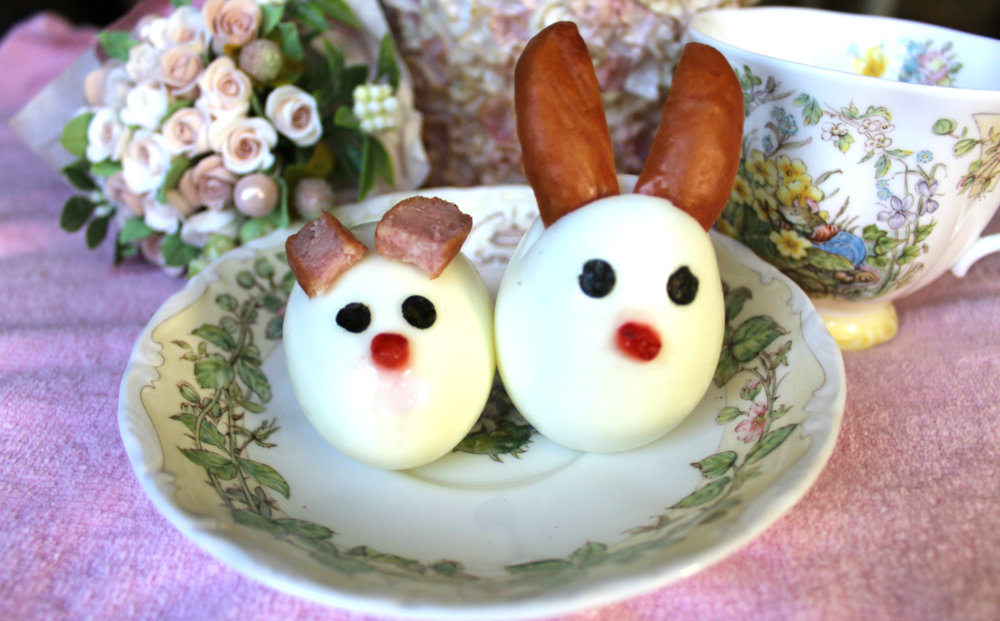 Easter Egg Dog Treats made with hard boiled eggs.