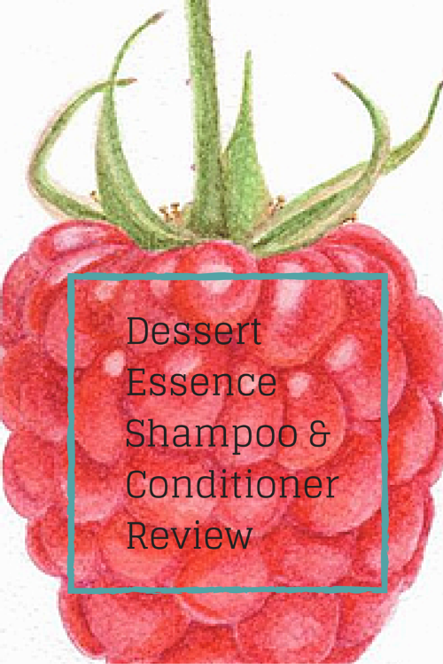Dessert Essence red raspberry shampoo and conditioner review by Drool of Happiness