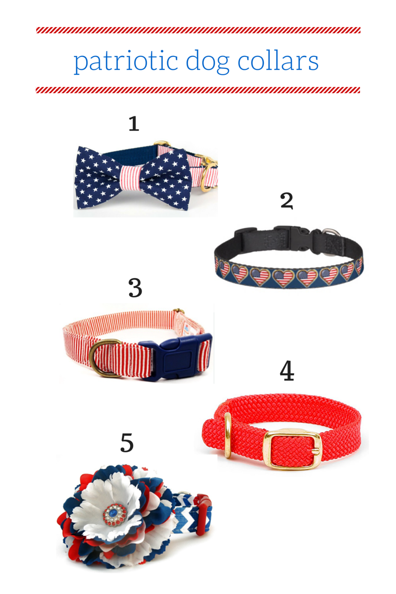 Patriotic Dog Collar Roundup by Drool of Happiness